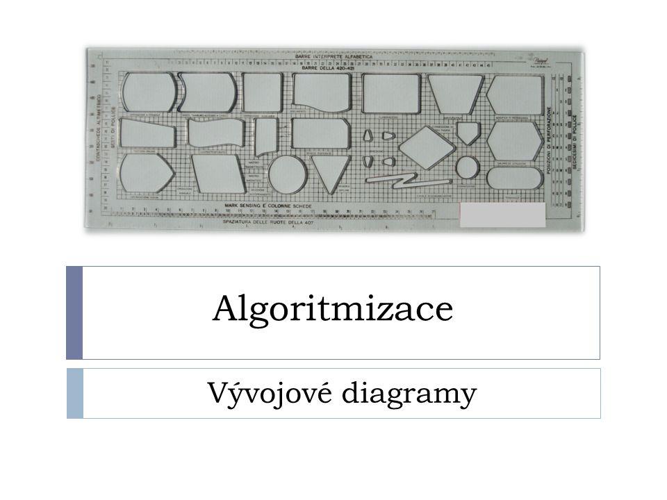 Algoritmizace Vývojové diagramy