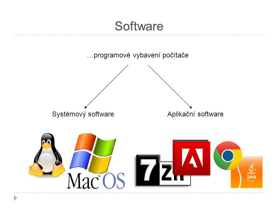 Software …programové vybavení počítače Systémový software