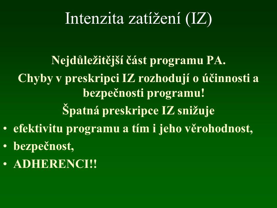 Intenzita zatížení (IZ)