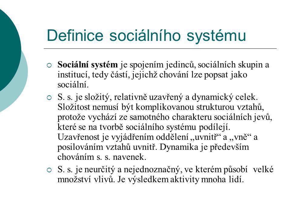 Definice sociálního systému