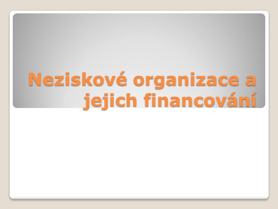 Neziskové organizace a jejich financování