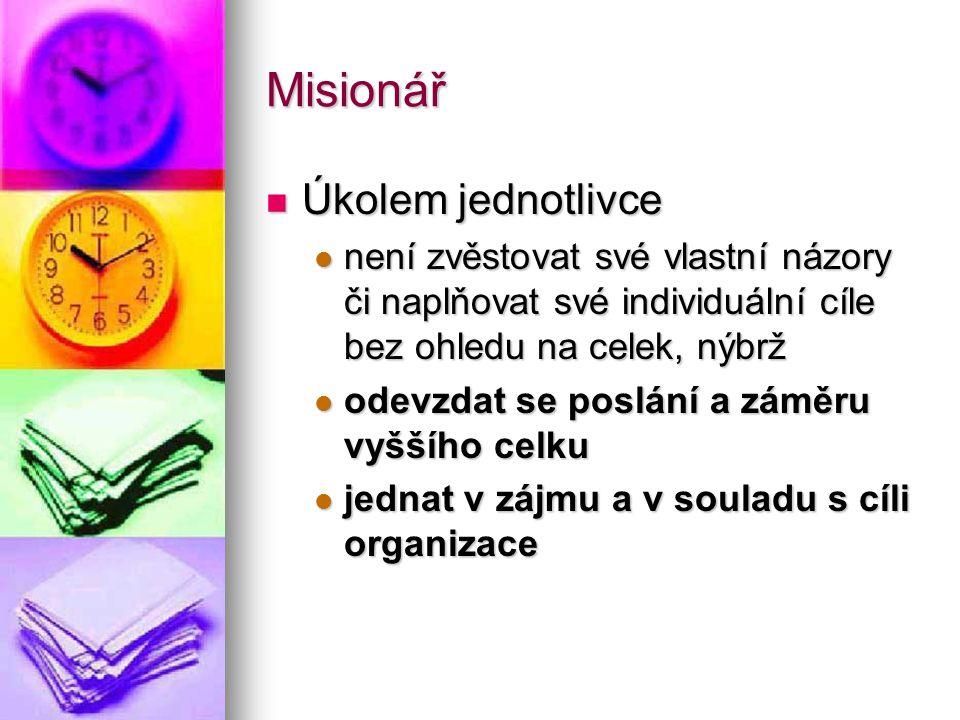 Misionář Úkolem jednotlivce