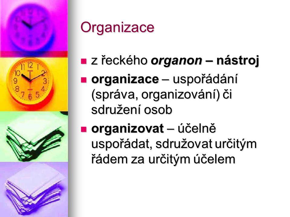 Organizace z řeckého organon – nástroj