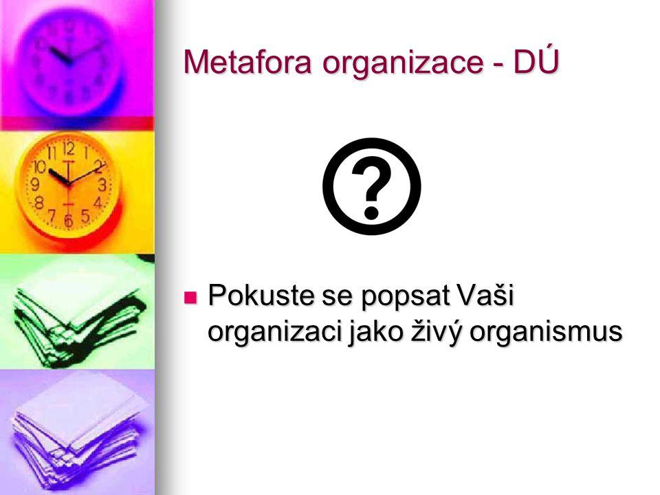 Metafora organizace - DÚ
