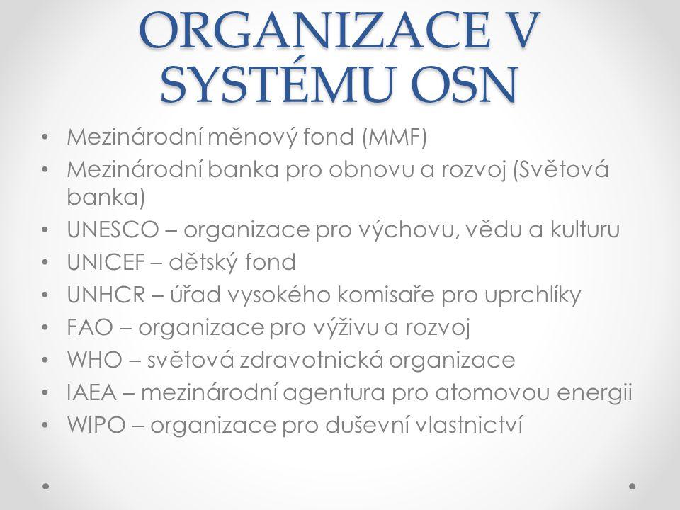 ORGANIZACE V SYSTÉMU OSN