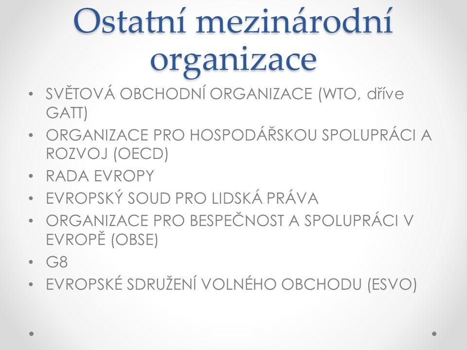 Ostatní mezinárodní organizace