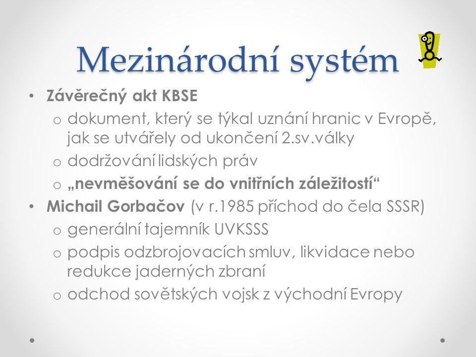 Mezinárodní systém Závěrečný akt KBSE