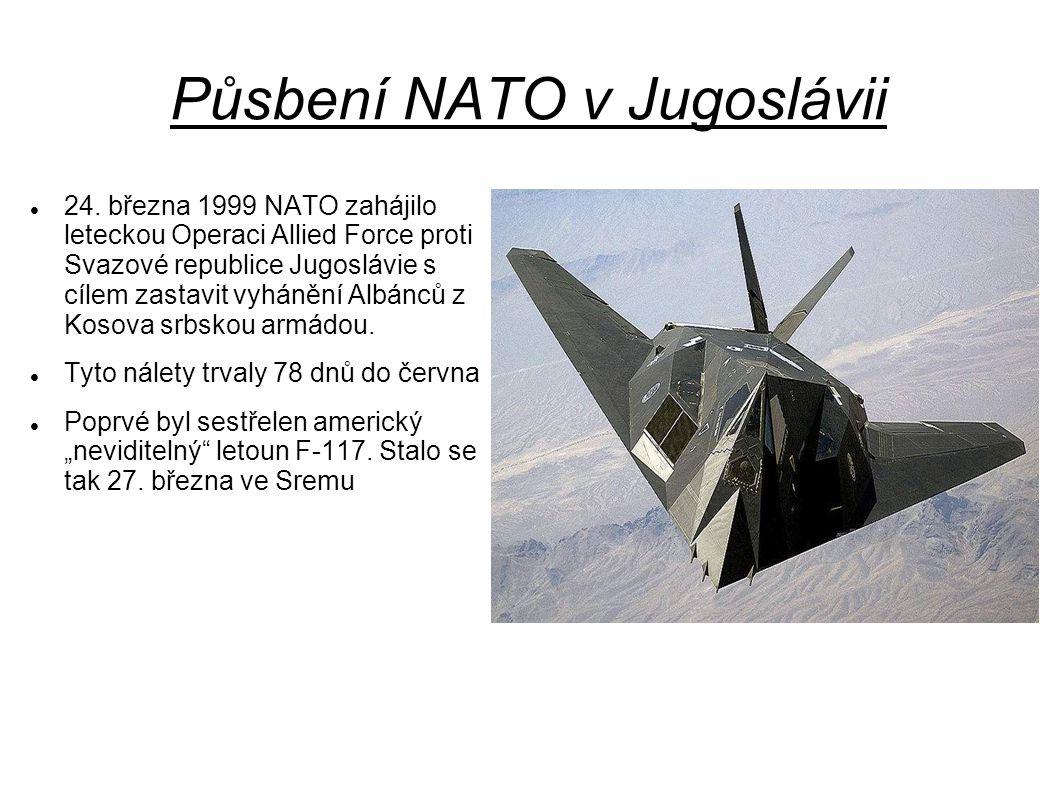 Půsbení NATO v Jugoslávii