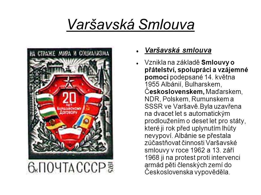 Varšavská Smlouva Varšavská smlouva