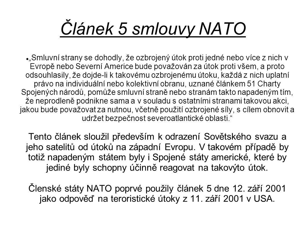 Článek 5 smlouvy NATO