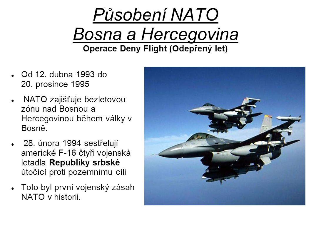 Působení NATO Bosna a Hercegovina Operace Deny Flight (Odepřený let)