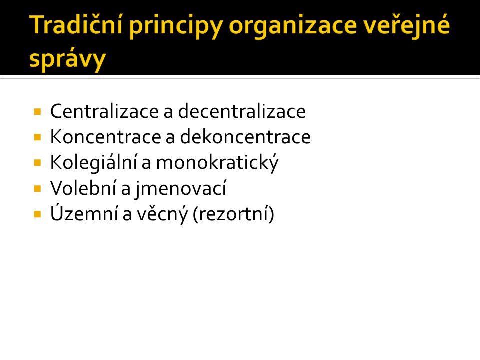 Tradiční principy organizace veřejné správy