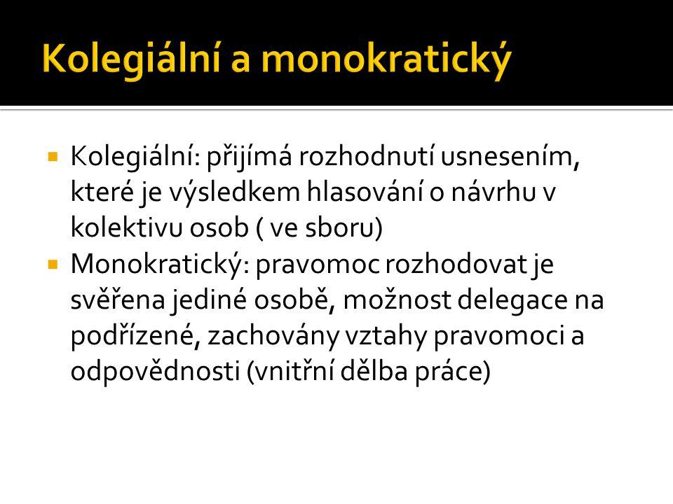 Kolegiální a monokratický