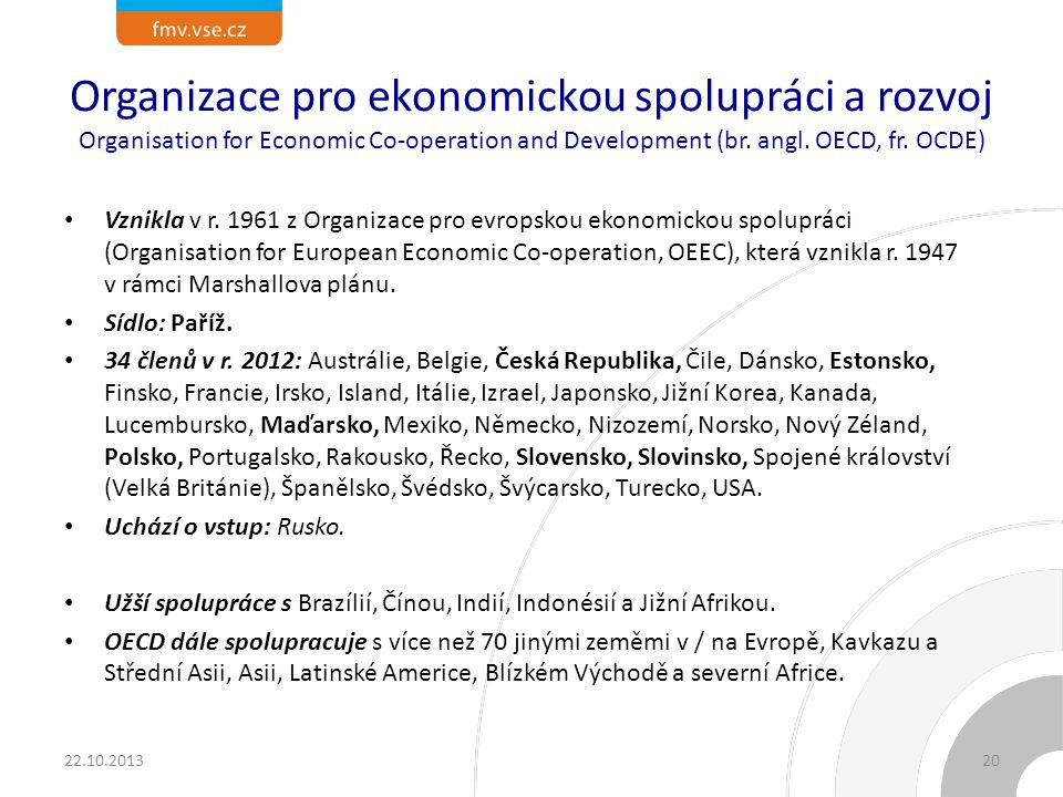 Diskuze k OECD Časový rozvrh: 15-20 min. Otázky: