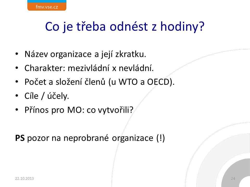 Členem kterých z probraných organizací je ČR
