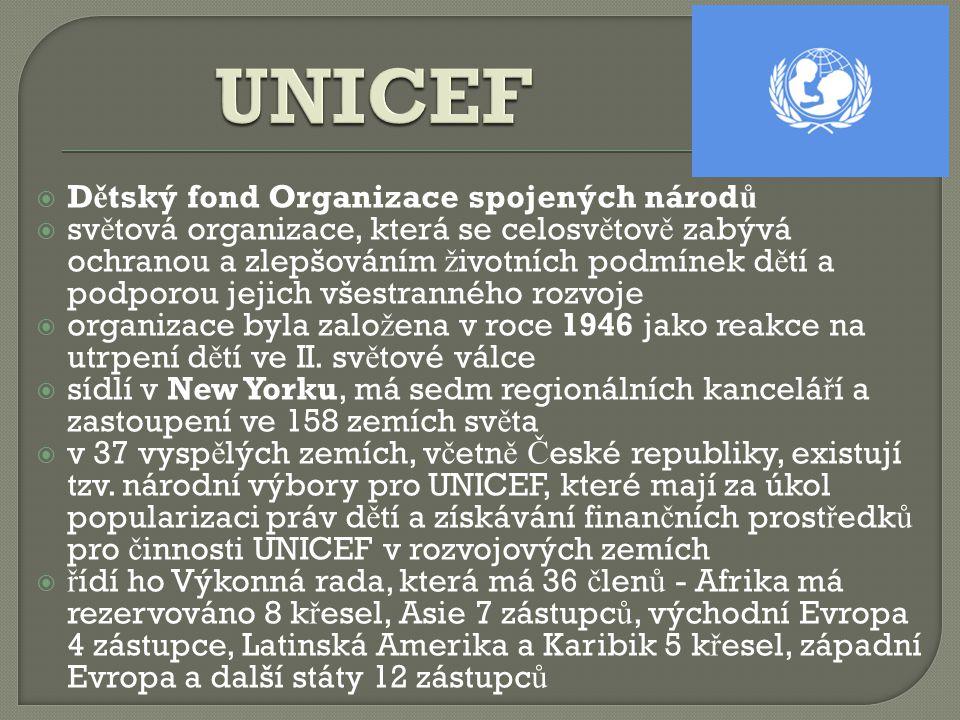 UNICEF Dětský fond Organizace spojených národů