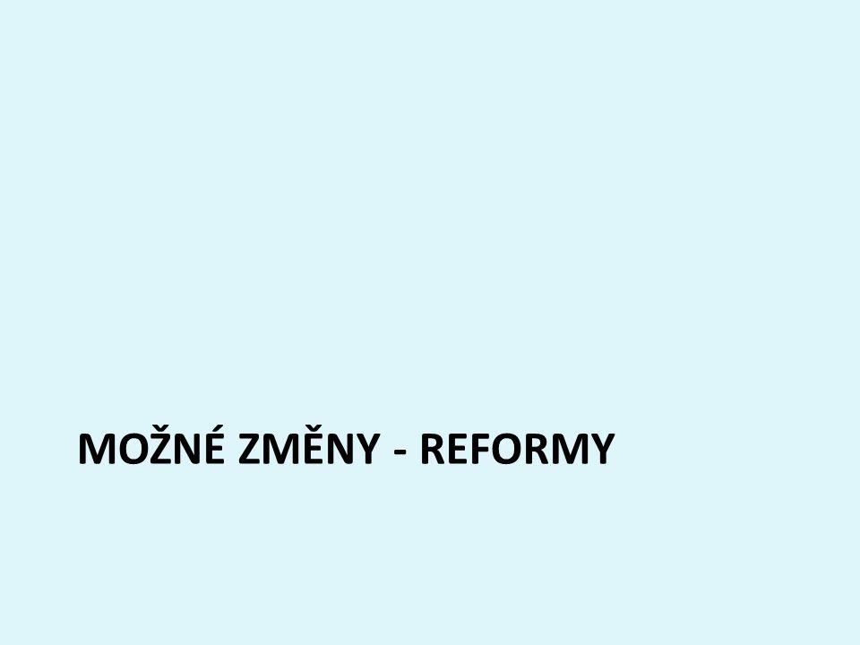 Možné změny - Reformy