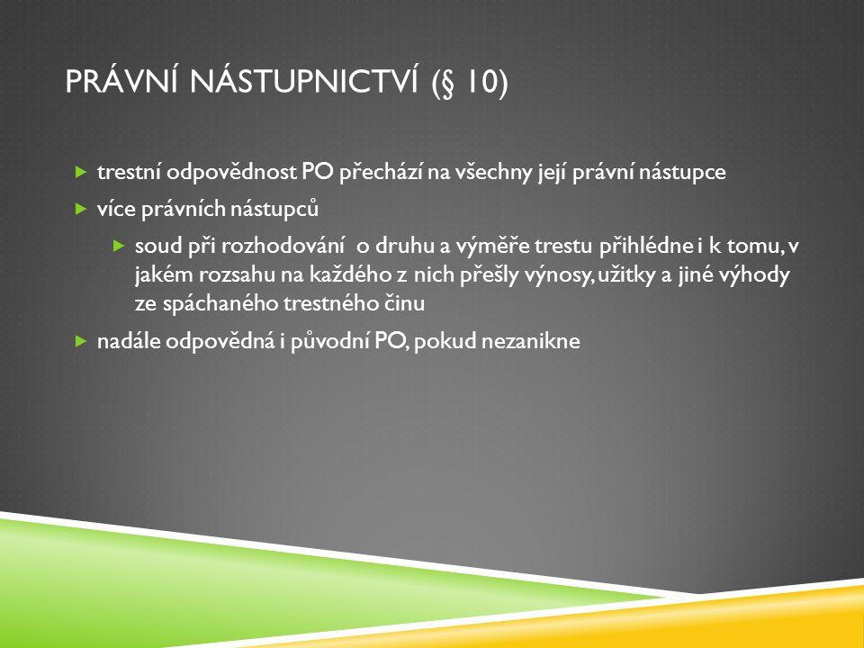 Právní nástupnictví (§ 10)