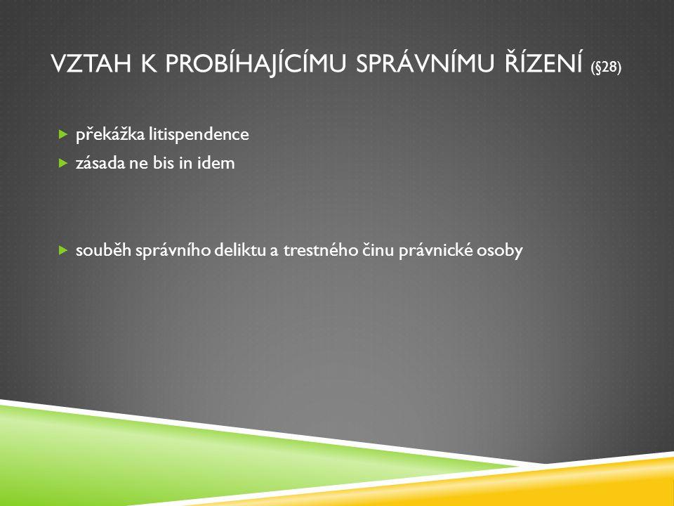 vztah k probíhajícímu správnímu řízení (§28)