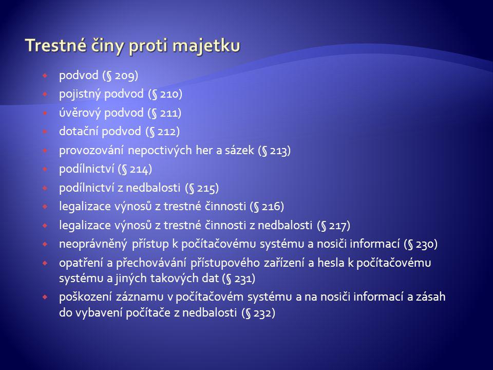 Trestné činy proti majetku