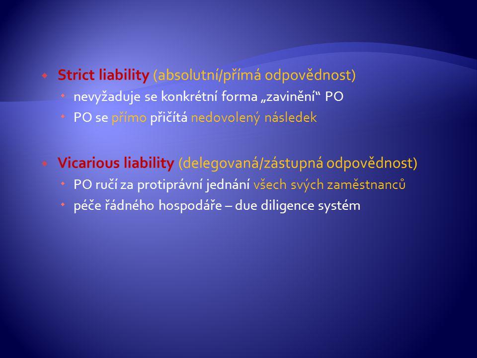 Strict liability (absolutní/přímá odpovědnost)
