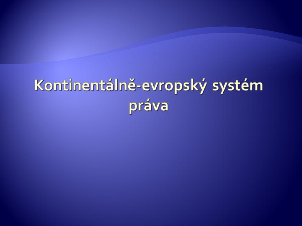 Kontinentálně-evropský systém práva
