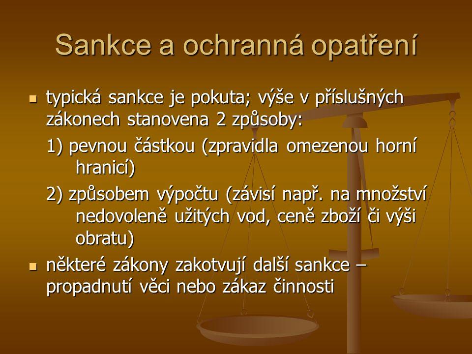 Sankce a ochranná opatření