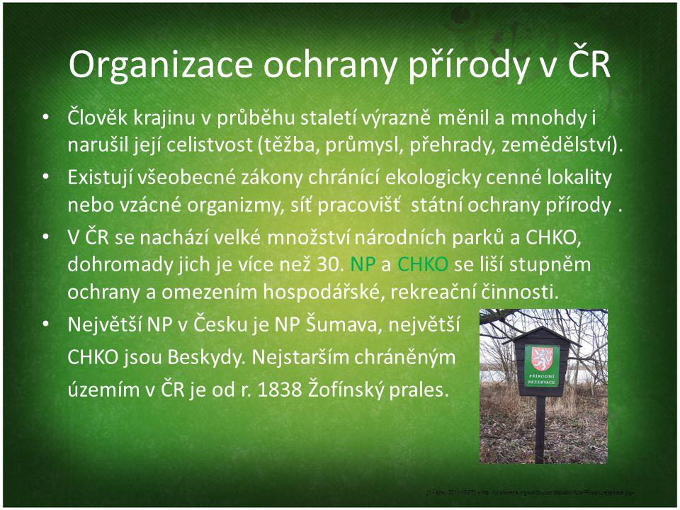 Organizace ochrany přírody v ČR