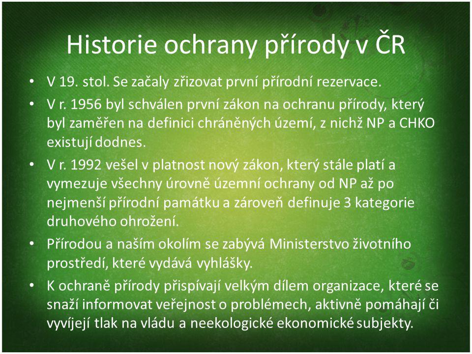 Historie ochrany přírody v ČR