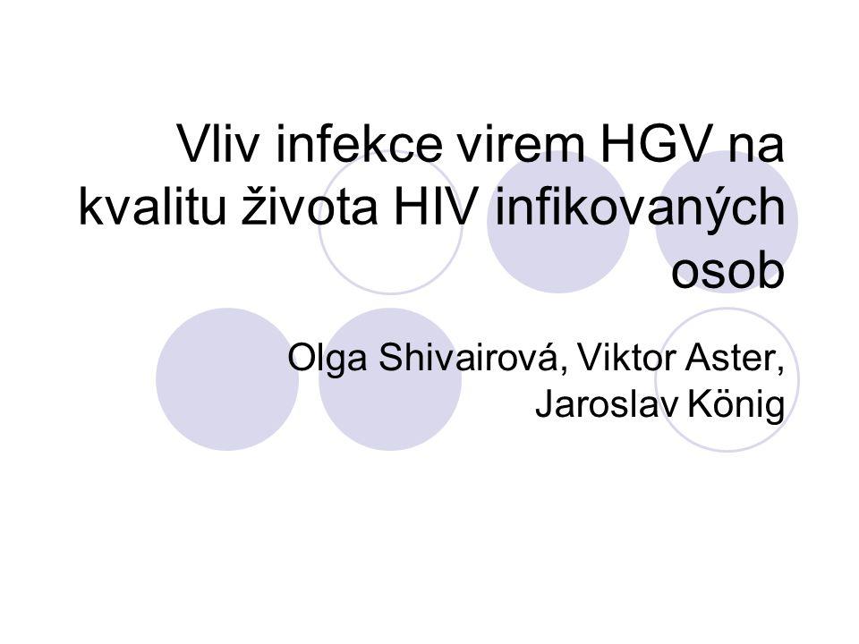 Vliv infekce virem HGV na kvalitu života HIV infikovaných osob