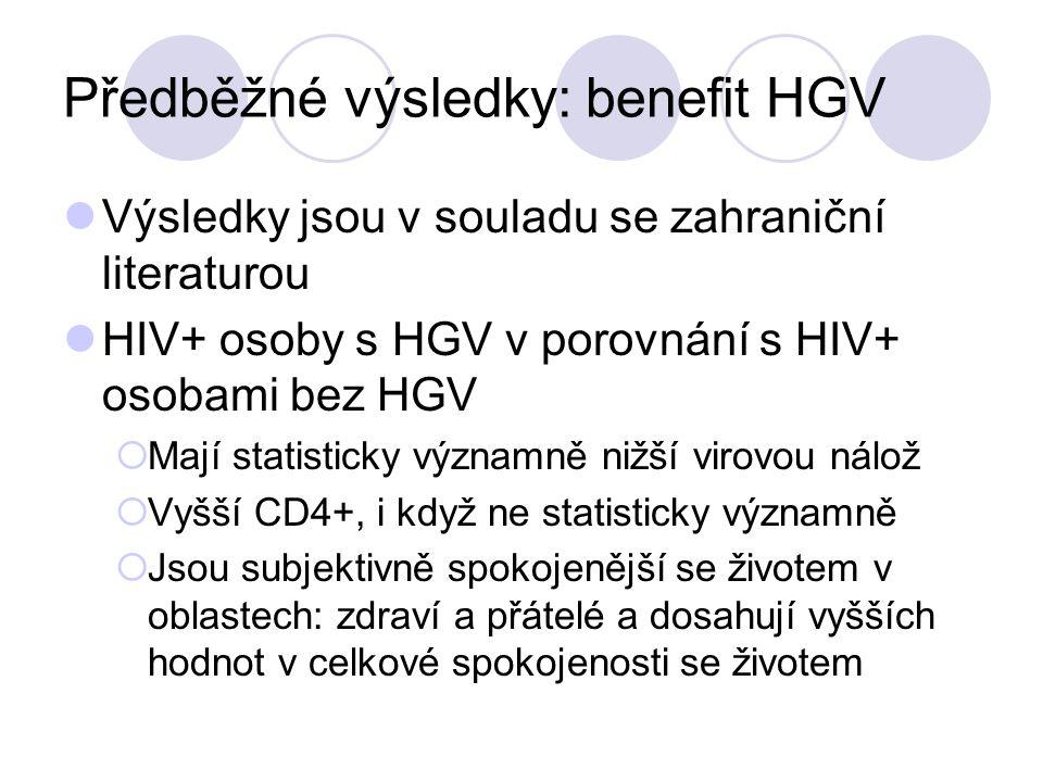 Předběžné výsledky: benefit HGV