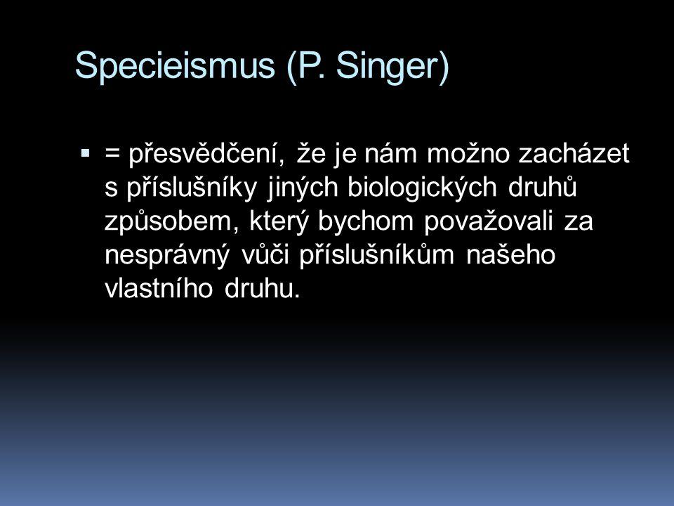 Specieismus (P. Singer)