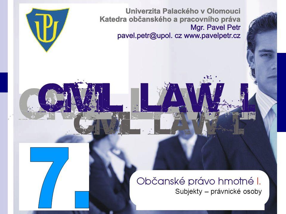 7. Subjekty – právnické osoby