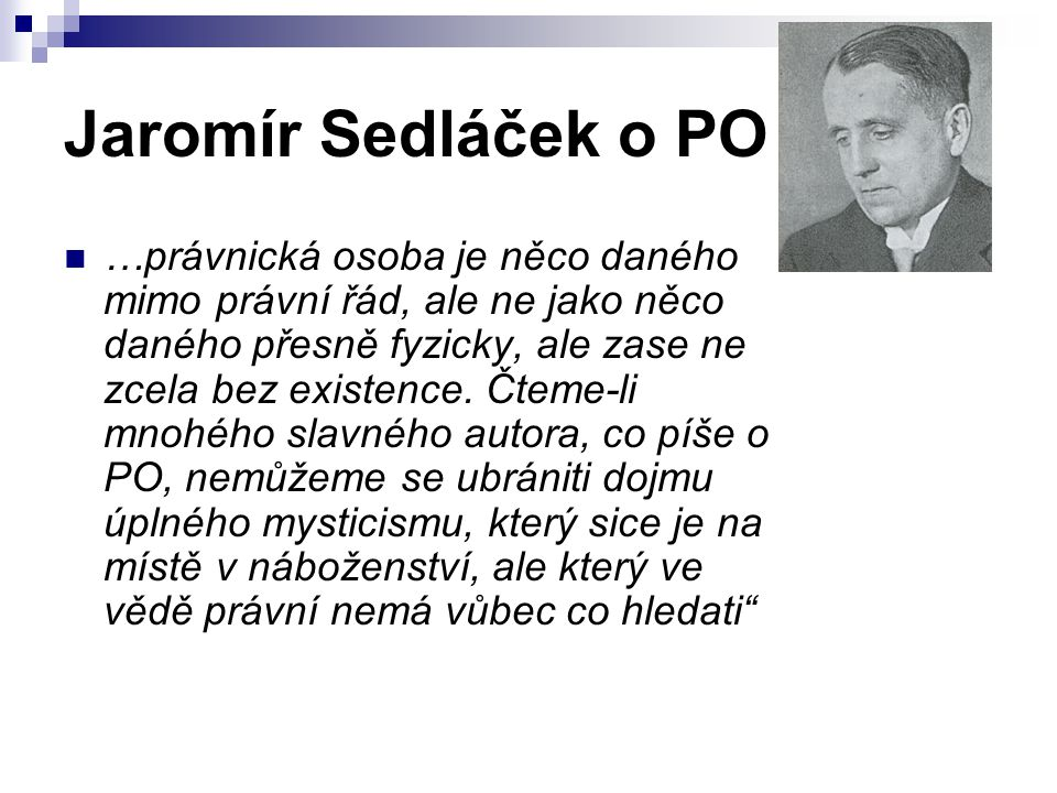 Jaromír Sedláček o PO