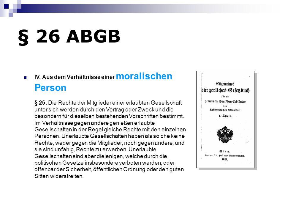 § 26 ABGB