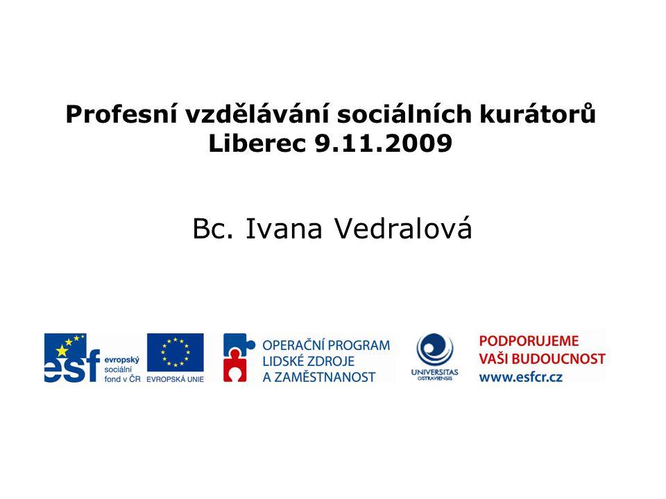 Profesní vzdělávání sociálních kurátorů Liberec 9.11.2009