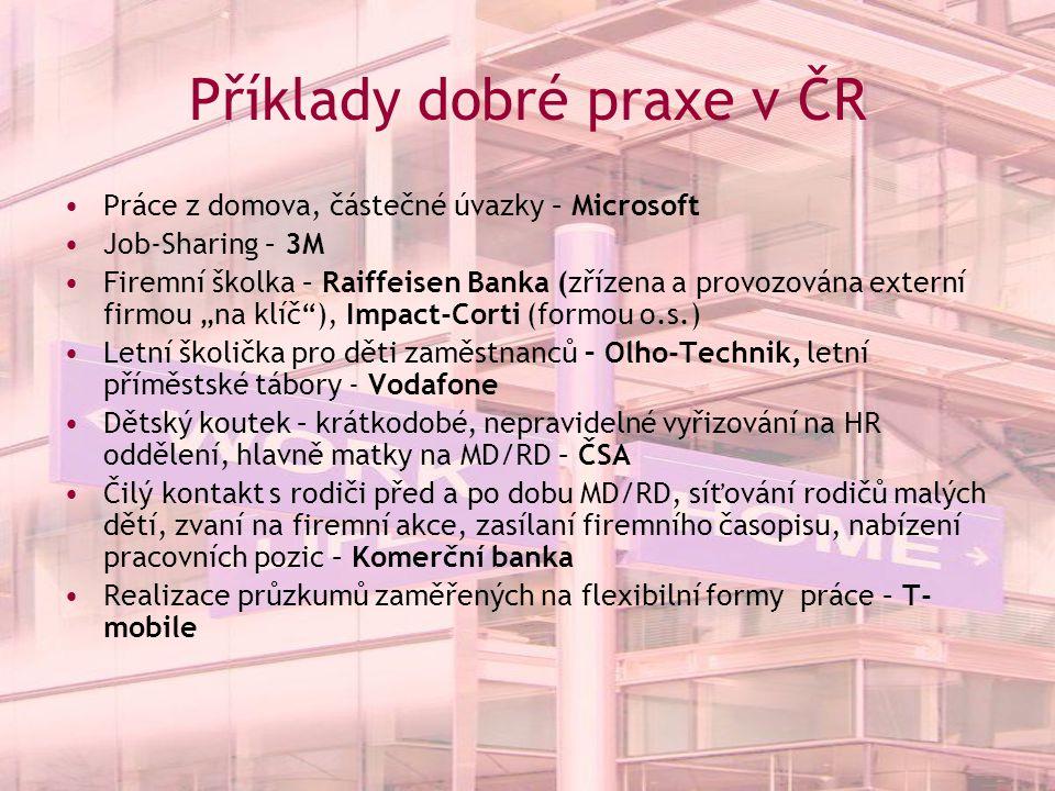 Příklady dobré praxe v ČR