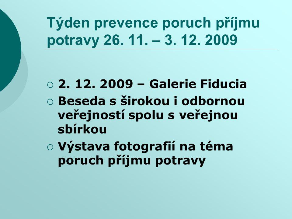 Týden prevence poruch příjmu potravy 26. 11. – 3. 12. 2009