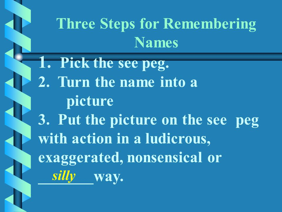 Three Steps for Remembering Names