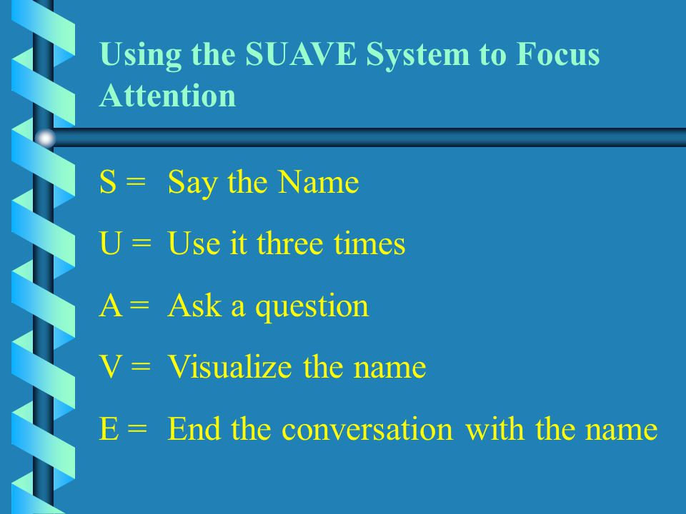 Using the SUAVE System to Focus Attention