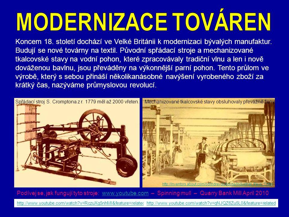 MODERNIZACE TOVÁREN