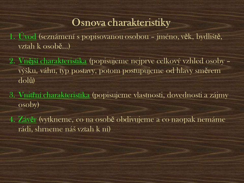Osnova charakteristiky