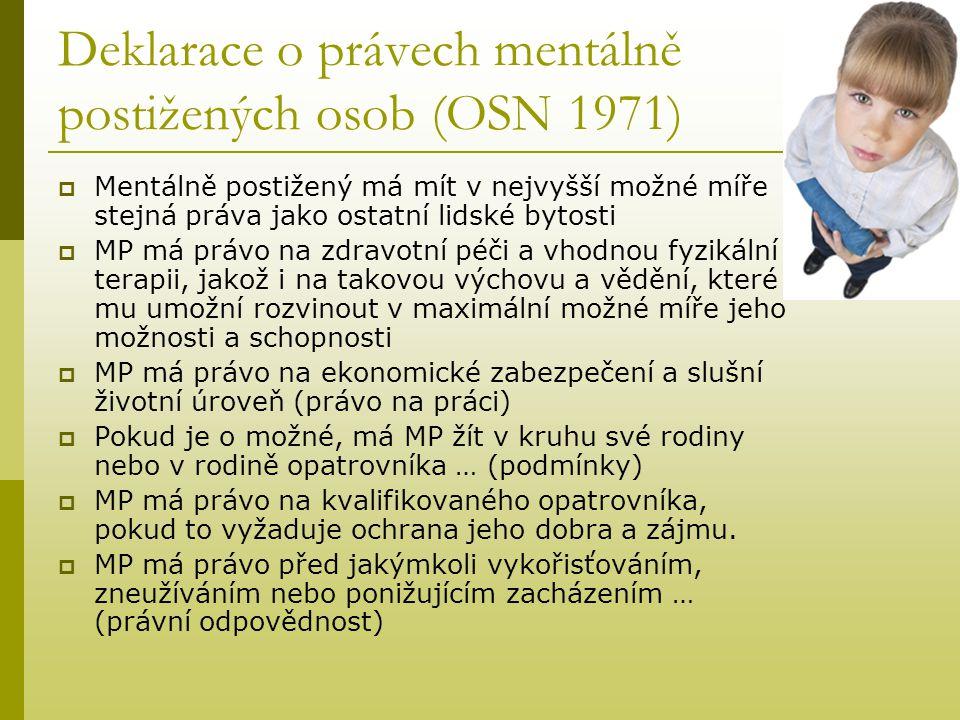 Deklarace o právech mentálně postižených osob (OSN 1971)