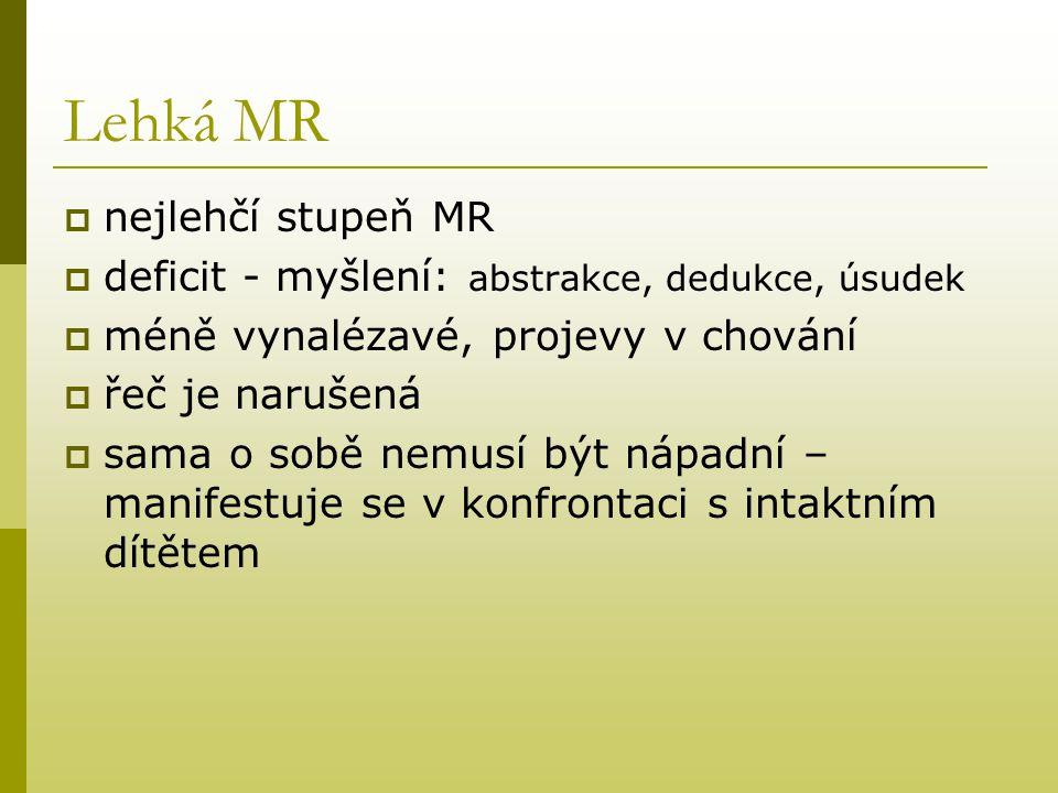 Lehká MR nejlehčí stupeň MR