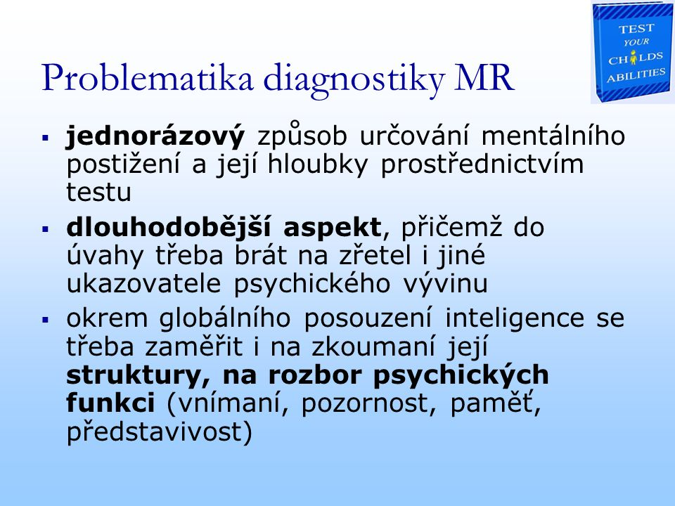 Problematika diagnostiky MR