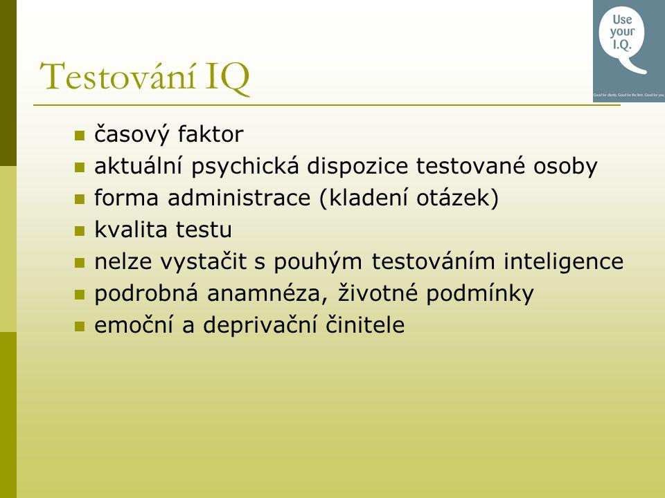 Testování IQ časový faktor