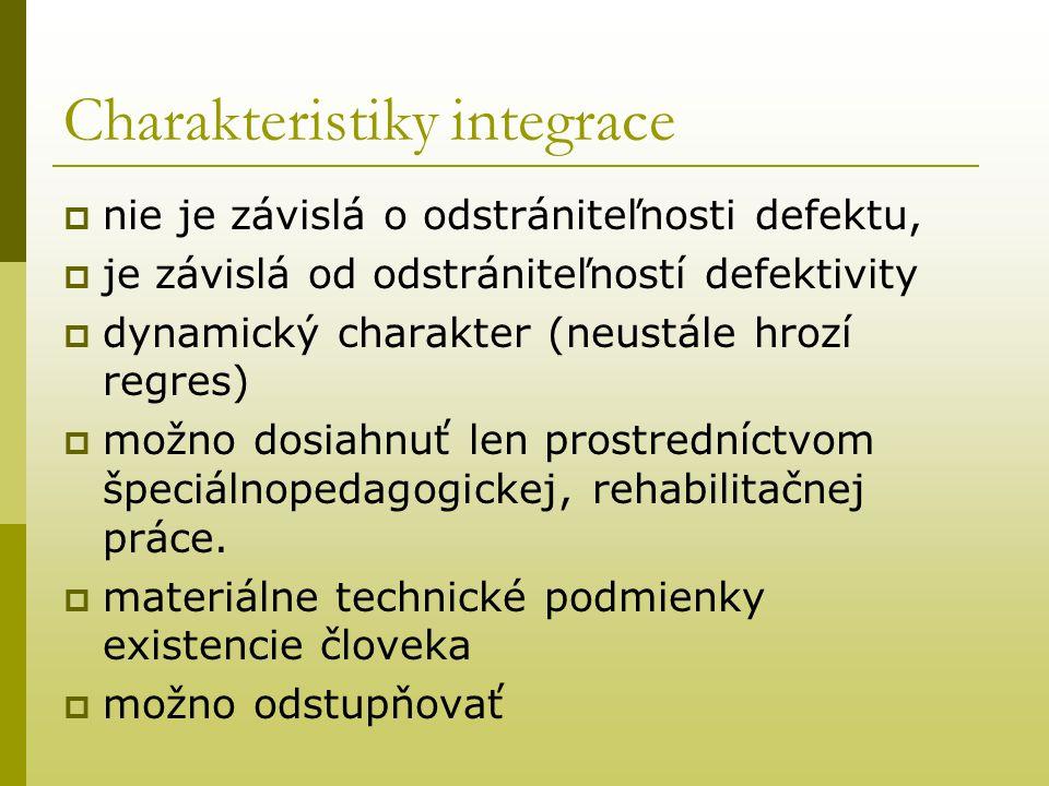 Charakteristiky integrace