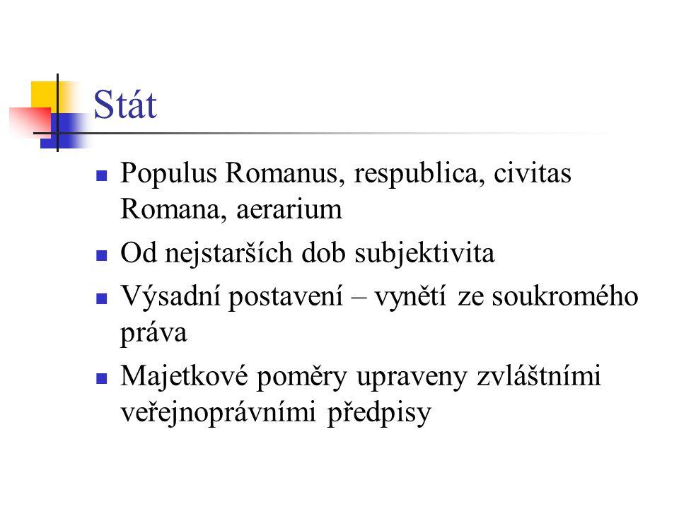 Stát Populus Romanus, respublica, civitas Romana, aerarium
