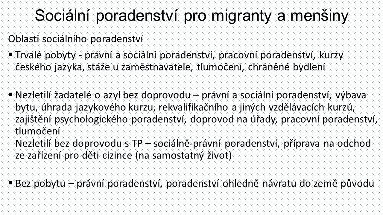 Sociální poradenství pro migranty a menšiny