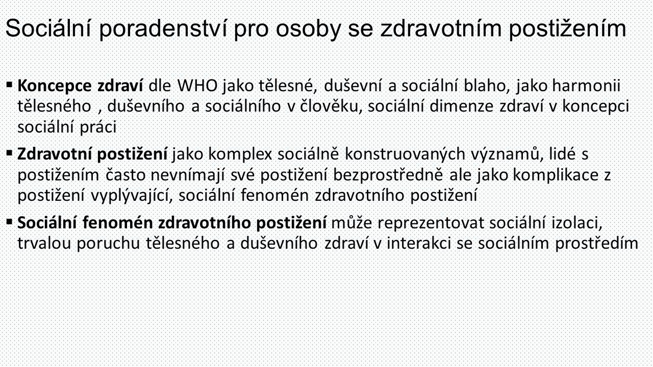 Sociální poradenství pro osoby se zdravotním postižením